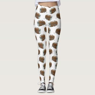 Champagne Cork Polka Dot Pattern Leggings