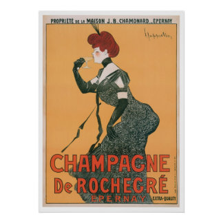 Champagne De Rochegre Vintage Drink Ad Art Poster