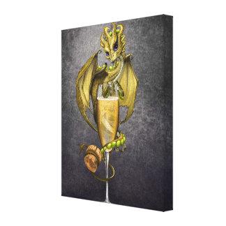 Champagne Dragon 8x10 Canvas Print