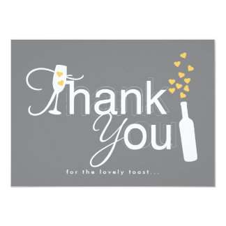 Champagne Engagement Party Thank You Note Card