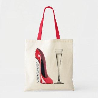 Champagne Flute Glass and Corkscrew Stiletto Shoe