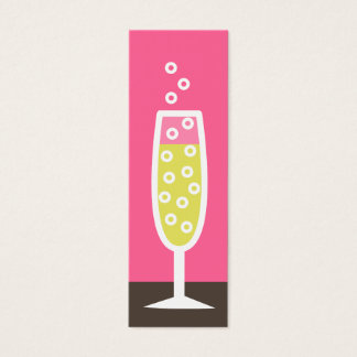 Champagne flute mini business card