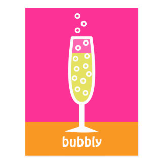 Champagne Flute - pink Postcard
