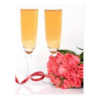 champagne flute postcard