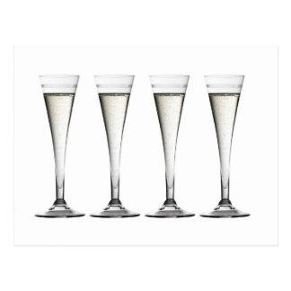 Champagne Flutes Postcard