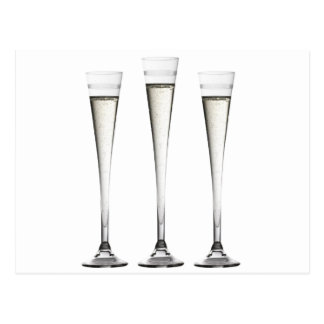 Champagne Flutes Post Card