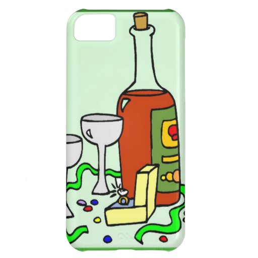 Champagne for the engagement party cover for iPhone 5C
