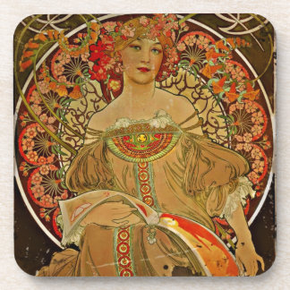 Champagne Girl 1897 Drink Coaster