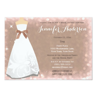 Champagne Glamour Hollywood Theme Bridal Shower Card
