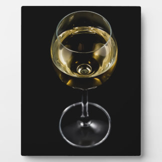 champagne glass display plaque