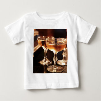 champagne glass golden toast baby T-Shirt