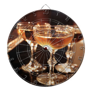champagne glass golden toast dartboard