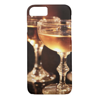 champagne glass golden toast iPhone 8/7 case
