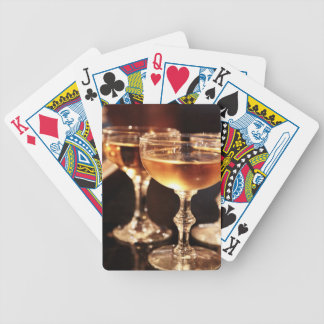 champagne glass golden toast poker deck