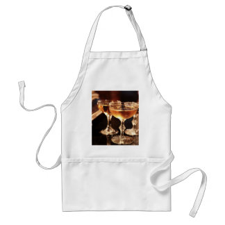 champagne glass golden toast standard apron