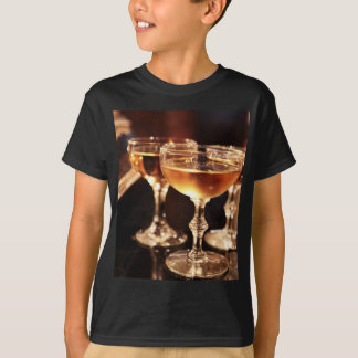 champagne glass golden toast T-Shirt
