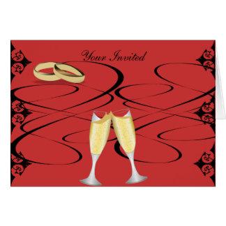 Champagne Glass Invitation Greeting Card
