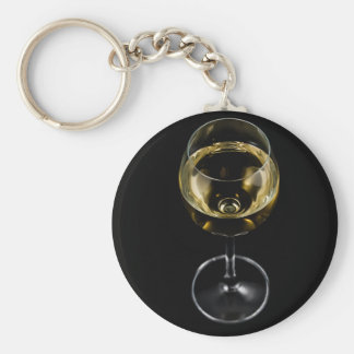 champagne glass key ring