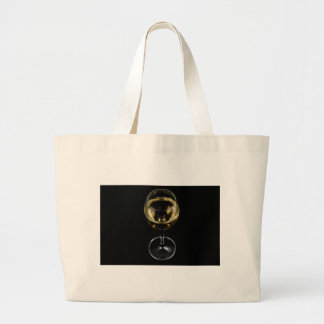 champagne glass large tote bag