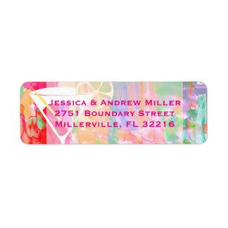 Champagne Glass Multicolored Return Address Return Address Label