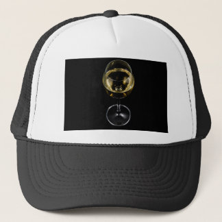 champagne glass trucker hat