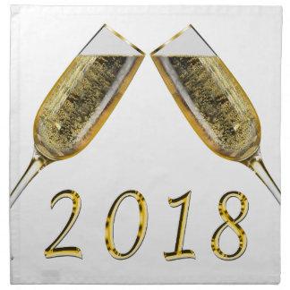 Champagne Glasses 2018 Napkin