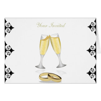 Champagne Glasses Greeting Card