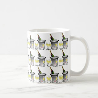 Champagne glasses, champagne bottle and Champagne Coffee Mug