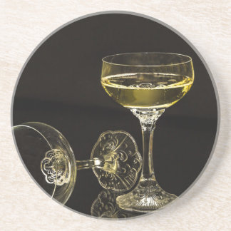 champagne glasses coaster