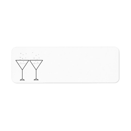 """Champagne Glasses"" Labels"