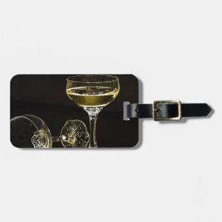 champagne glasses luggage tag