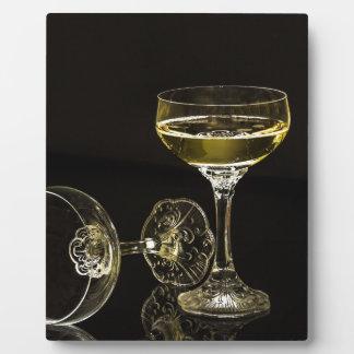 champagne glasses plaque