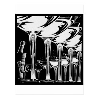 Champagne Glasses Postcard