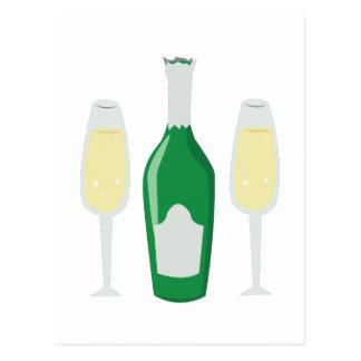 Champagne Glasses Post Card