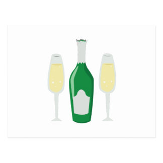 Champagne Glasses Post Cards