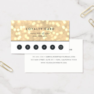 Champagne Gold Bokeh | Loyalty Business Card