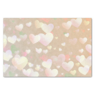 Champagne Hearts Tissue Paper