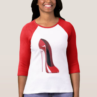 Champagne heel red stiletto shoe art T-Shirt