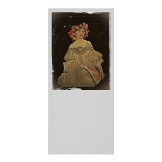 Champagne Lady Holding a Book Custom Rack Cards