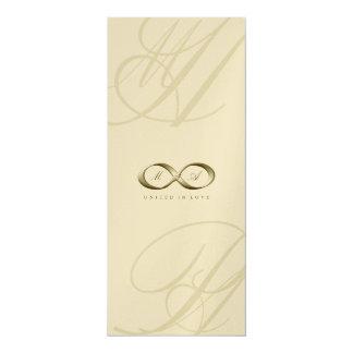 Champagne Love Infinity Hand Clasp Logo Wedding Card