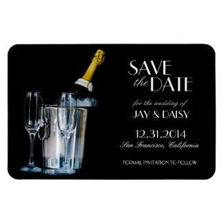 Champagne New Years Eve Formal Save the Date Magnet