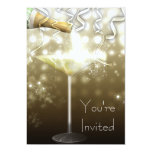 Champagne New Years Eve Party Invitations