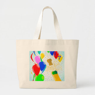 Champagne Party 2017 Large Tote Bag