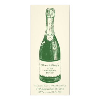 Champagne Personalized Label Invitation