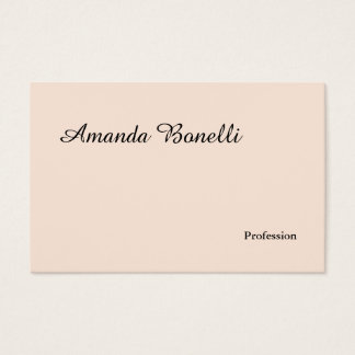 Champagne Pink Plain Simple Minimalist Modern Business Card
