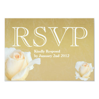 "Champagne Rose Bud Response Card 3.5"" X 5"" Invitation Card"