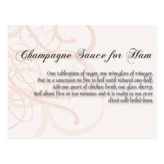 Champagne Sauce for Ha, Postcard