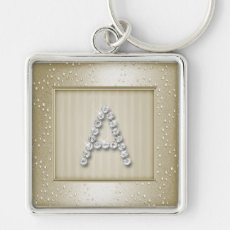 Champagne Shimmer and Sparkle with Monogram Keychains