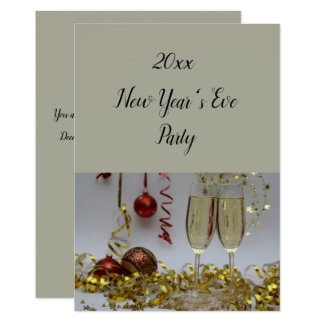 Champagne & Streamers Party Invitation