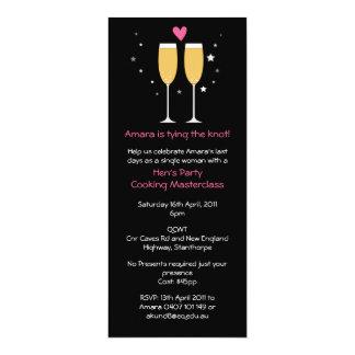 Champagne Toast Bachelorette Party Invitation
